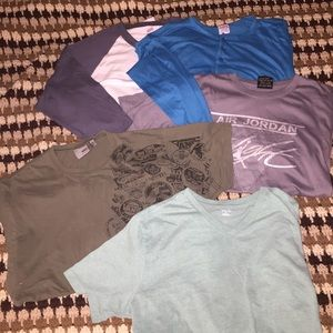 Vans & other branded tee's men's size lg